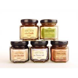 Assortiment de 5 crèmes de caramel d'Isigny