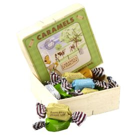 "BOÎTE PAVE CARAMELS ASSORTIMENT ""NORMANDIE"" - 150G"