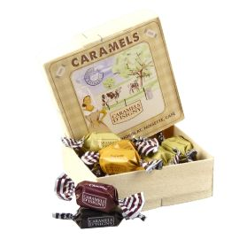 "BOITE BOIS CARAMELS ASSORTIMENT ""TRADITION"""