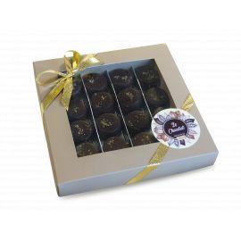 Boîte Blanche Assortiment Chocolats avec alcool