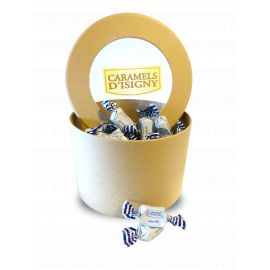 BOITE RONDE KRAFT - 500G CARAMELS TENDRES BEURRE SALE