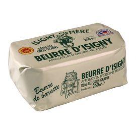 BEURRE D'ISIGNY A.O.P. DE BARATTE - DEMI-SEL DE GUERANDE  250G
