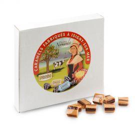 Boîte 2kg Caramels Fondants vanille marbrés chocolat