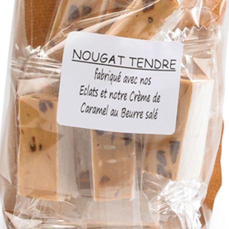 Dominos de Nougat tendre au caramel beurre salé