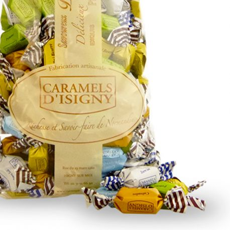 "Sachet 1kg Vrac Caramels Assortiment ""Normandie"""